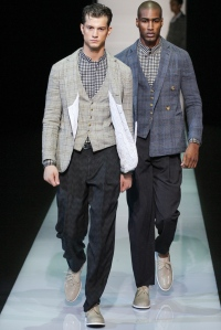 Images from Style.com and looks from Giorgio Armani.